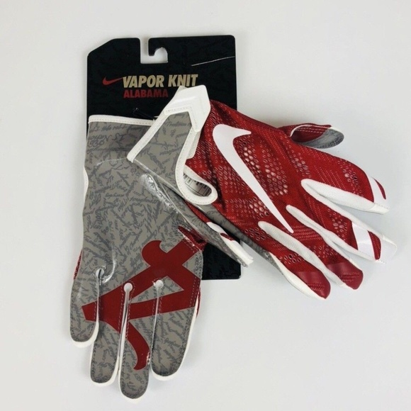 Nike Vapor Knit Alabama Receiver Gloves b6bdc278af79
